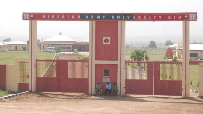 Courses offered in Nigerian Army University And Their Cut Off Marks